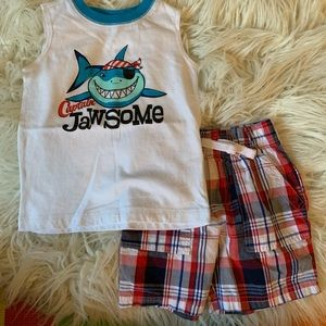 Matching Sets - 2T Boys tank top outfit